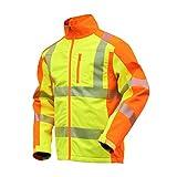 NEU! ELDEE YO-HiViz Softshelljacke, moderne Warnschutzjacke, gelb/orange mit Reflexsteifen, Gr. S - XXXL (XXXL)