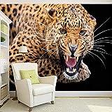 WSKBH Carta da Parati Murali,Personalizzazione Personalizzate 3D Stereo Animale Tigre di Carta da Parati Foto Living Room Bedroom Landscape Design Affresco Murale-260Cm (H) X 340Cm (W)