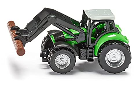 Deutz Fahr Agrotron TTV with Front Loader and Tree Trunk Grapple