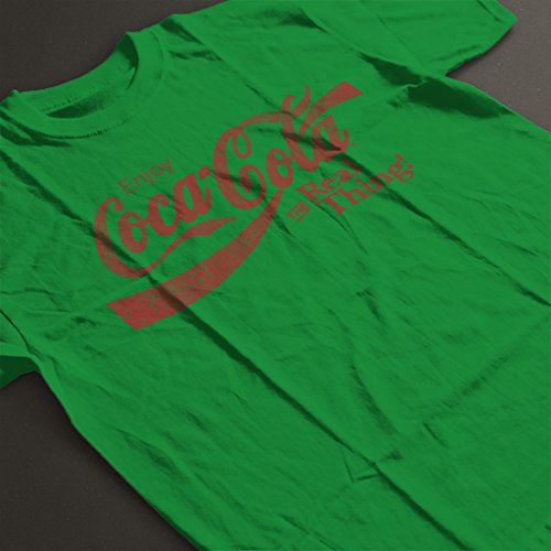 Coca Cola Real Thing Women's T-Shirt Kelly Green
