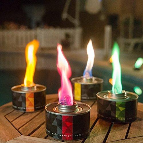 GARTENPAUL 4er Set Color Torch | farbige Gartenfackel | Farben Orange, Gelb, Grün und Rot | Made in Colors -