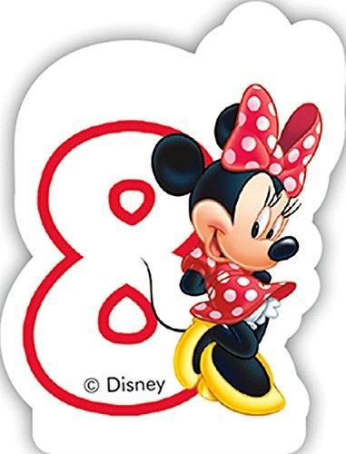 Zahlenkerze 8 * MINNIE MAUS * für Kindergeburtstag // Kinder Geburtstag Party Numeral Birthday Candle Kuchen Deko Motto Disney Mickey Mouse acht Jahre (Mickey-mouse-geburtstags-zahlen)