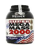 Weider Mega Mass 2000, Kohlenhydrat-Proteinmischung - Geschmack: Vanilla, 1er Pack (1 x 3 kg)