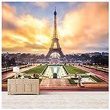 azutura Eiffelturm Sonnenaufgang Fototapete Wahrzeichen Paris Tapete Wohnzimmer Dekor Erhältlich in 8 Größen Extraklein Digital