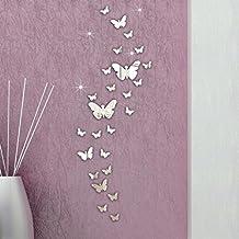 FAMILIZO 30Pc Mariposa CombinacióN 3D Espejo De Pared Pegatinas DecoracióN Del Hogar De La DecoracióN De