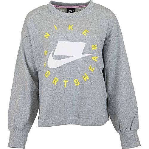 Nike Boyfriend French Terry Sweatshirt Sweater Pullover (M, Dark Grey) French Terry-sweatshirt