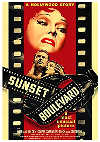 'Sunset Boulevard' (William Holden/Gloria Swanson 1950) - Fantastic A4 Glossy