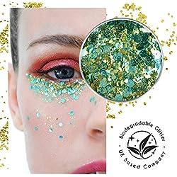 Ecostardust turchese Treasure biodegradabile glitter ✶ festival Bioglitter cosmetici viso corpo capelli unghie