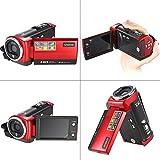 Andoer HDV-107 Digital Video Camcorder Kamera HD 720P Flash 16MP DVR 2.7 '' TFT LCD Screen 16x ZOOM Rot