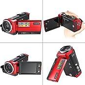 Andoer HDV-107 Digital Video Camcorder Kamera HD 720P Flash 16MP DVR 2.7   TFT LCD Screen 16x ZOOM Rot
