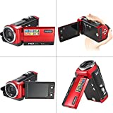 "Andoer Videocámaras Digitales Mini Portátil LCD Pantalla 2,7 "" HD 16MP 16X Zoom Digital 720P 30 FPS Anti-vibración Grabador de Vídeo Digital Cámara Videocámara DV DVR"