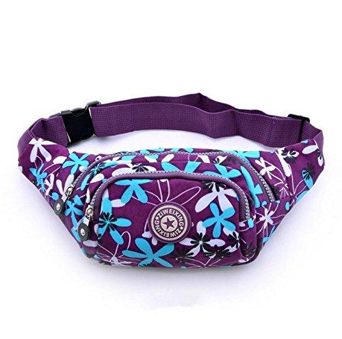 Bum Bag fanny Pack Festival Money Waist Pouch Travel Canvas Belt - Festivals   Club Wear  Holiday Wear (Purple flowers) - Buy Online in Oman.   Misc. d02bdee7d2