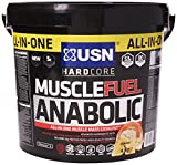 USN Muscle Fuel Anabolic Muscle Gain Shake Powder, Banana, 4 kg