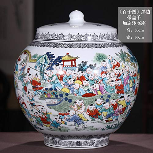 Jingdezhen Keramik Antik Hundert Zi Chart Große Vase Blumenschmuck Chinesische Klassik Wohnzimmer Dekoration Dekoration Geschenk