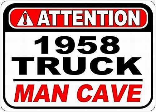 WallAdorn 1958 58 Chevy Truck Attention s Eisen Poster Malerei Blechschild Vintage Wall Decor für Cafe Bar Pub Home (Lichter Chevy Truck)