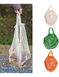 ELECTROPRIME Reusable String Shopping Grocery Bag Shopper Tote Mesh Eco Handbag