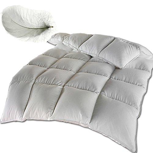 Feder Stepp Bett Bettdecke oder Kopfkissen Bett Decke Federn Federdecke Decke (Bettdecke 135x 200cm)