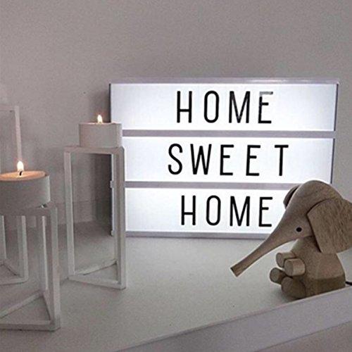 Light Box, M.Way A4 - Stufenlos dimmbar Leuchtkasten mit Buchstaben, gestaltbare LED Kino Light Box, Film Leuchtkasten- Kino Lightbox selbst gestalten - Leuchtkasten mit flexiblen Buchstaben Test