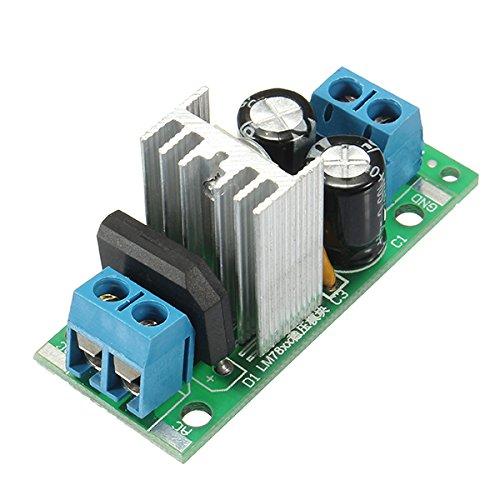 Ac-lüfter Kondensator (LaDicha L7812 Lm7812 Drei Terminal Spannungsregler Modul 12 V Spannungsreglermodul Gleichrichter Filter Power Converter)