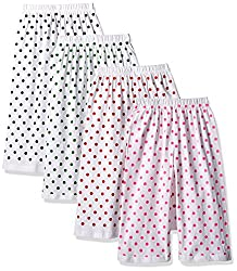 SINIMINI FASHIONABLE WHITE DOT CAPRI(PACK OF 4)