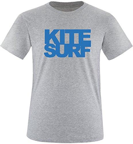 EZYshirt® Kitesurf Herren Rundhals T-Shirt Grau/Blau