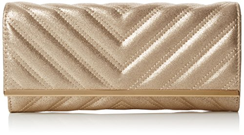 New Look Damen Kensignton Quilt Tasche, Goldfarben, One Size