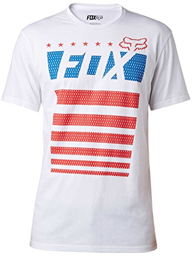 Fox T-Shirt Red White and True Schwarz Optical White
