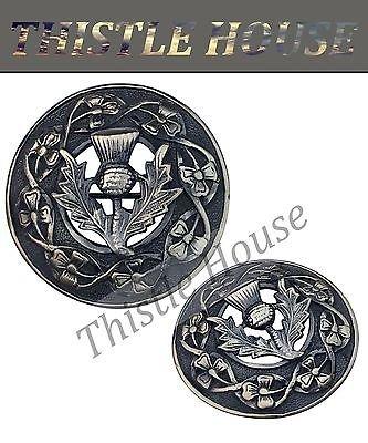 Details about Scottish Kilt Fly Plaid Brosche Distel Badge / Piper Schal Anstecknadel Antikes Finish (Kilt Scottish Brosche)