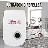 Moliies Repellente per Insetti elettronico Repellente per Insetti parassiti Anti scarafaggi Ultrasuoni Gatto Anti-zanzara Ratto/Bianco
