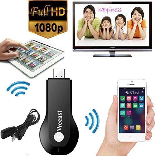 Micomy WeCast Ipush dongle Better Than EZCast Miracast Dongle Wifi Streaming to TV Wireless Display as Google Chromecast hdmi 1080p -Black