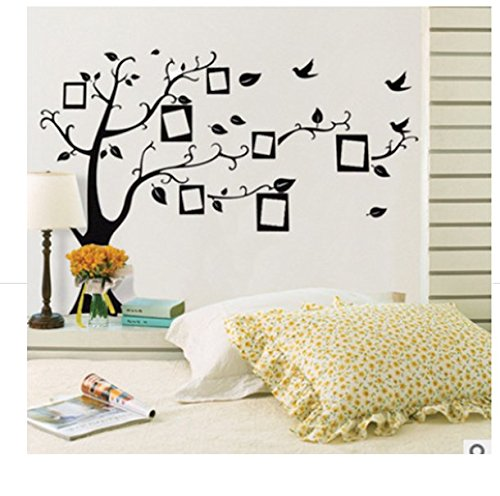 SwirlColor Photo Frame Famiglia FAMIGLIA 3D Wall Stickers decalcomania di arte albero smontabile Decora uccelli