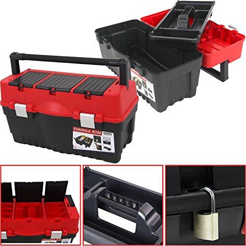 Kunststoff Werkzeugkoffer Formula S ALU 700, 60x33cm Kasten Werzeugkiste Sortimentskasten Werkzeugkasten Anglerkoffer