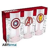 ABYstyle - Marvel - Set de 3 Verres