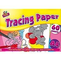 60 hojas de papel de calcar A4, ideal para oficina, escuela y aprendizaje