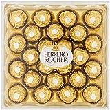 Ferrero Rocher Fine Hazelnut Chocolate 24 Piece Gift Box, Net Wt 10.6 Oz (300g) by Ferrero