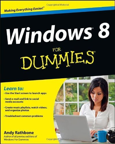 Portada del libro Windows 8 For Dummies 1st (first) by Rathbone, Andy (2012) Paperback