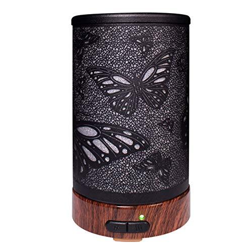 GAOwi 100 ml Luftbefeuchter Ätherisches Öl Diffusor Aroma 7 Farbe LED Lampe Aromatherapie Elektrische Diffusor Nebelhersteller für Home Office,Black (öl 997 Filter)