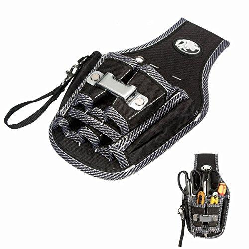 Handwerker Messband (Werkzeuggürtel MOHOO 9 in 1 Werkzeugtasche befestigung am Gürtel guten Werkzeugbeutel für Werkzeugen, Schraubendreher und Bohrern etc.)