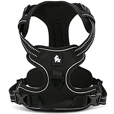 fiE FIT INTO EVERYWAY Range Of Front Side No Pull Dog Harness Outdoor Adventure 3M Reflective Pet Vest with Handle Adjustable Protective Nylon Walking Pet Harness