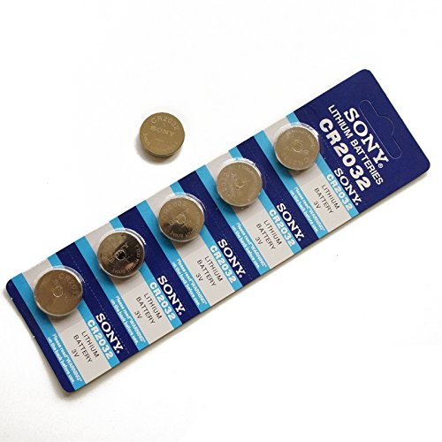 Top Marke 5 x Original CR2032 DL2032 LM2032 3 V Lithium Knopfzelle button Batterien (Pack Low-voltage Power)