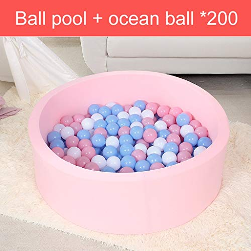 LIUFS-Bola Del Océano Ozean Ball Kinder Kunststoff Ball Bubble Ball Spielzeug Indoor Welle Ball farbige Ball Pool lagerung Geschenk anordnung Zimmer (Color : Pink)