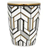 GreenGate Gate Noir - Espressotasse Mokkatasse - Gold - Madie - geometrisches Muster