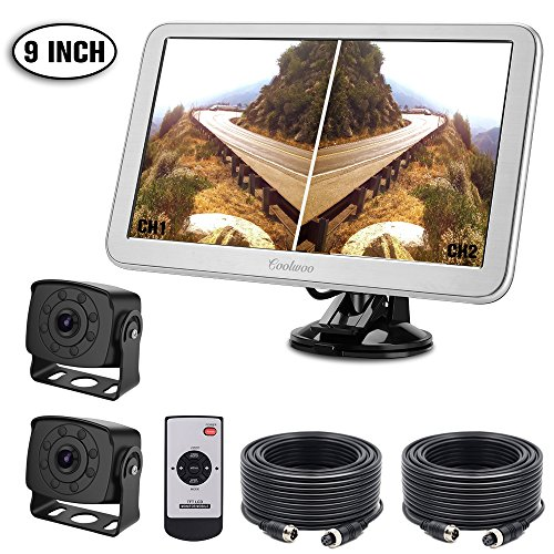 Coolwoo Backup Camera and Monitor Kit, 2 Wide Angle for sale  Delivered anywhere in UK