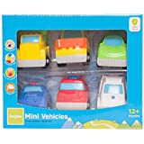 Baybee Mini Vehicle Set | 6 Pieces Of Free Wheel Vehicles | SuperCar, PoliceCar, Ambulance, FireEngine, Truck, FrontLoader