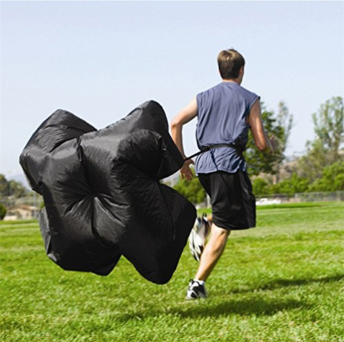 Katech Running Exercise Training Resistance Umbrella Speed and Agility Training Resistance Parachute Sports Equipment for Football Power Traning and Athletic Training  Black