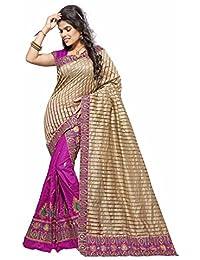 S Kiran's Women's Art Silk Magenta Mekhla Lining Chador - Mekhela Sador Saree - Dn 6859