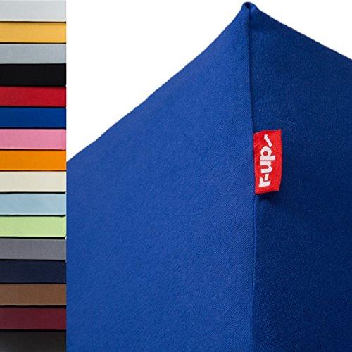 r-up Passt Spannbettlaken 90x200-100x200 bis 35cm Höhe viele Farben 100{90ca913998a3ae96bd23398b1119c96387e1c9214127d35005f9d17128651e98} Baumwolle 130g/m² Oeko-Tex stressfrei auch für hohe Matratzen (Royalblau)