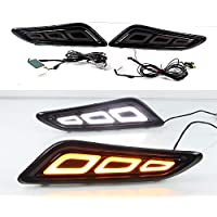 July King Fender del coche Guía de luz LED Luz de conducción diurna lateral DRL Streamer