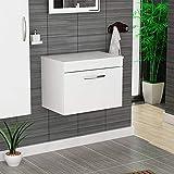 Royal Bathrooms Athena 500mm Gloss White 1-Drawer Wall Hung Countertop/Worktop Vanity Unit