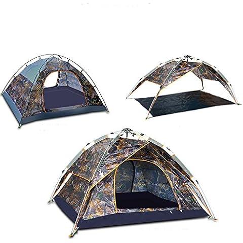 resorte automático de tienda al aire libre a prueba de lluvia de camping 3-4 Personas Tienda de campaña doble litera Set 2